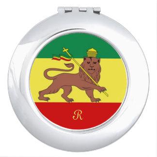 Bandera de la música del reggae de Rastafari Espejo De Maquillaje