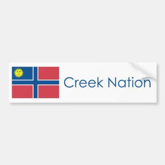 Bandera de la nación de The Creek Pegatina De Parachoque