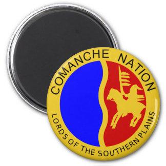 Bandera de la nación del Comanche Imán Redondo 5 Cm