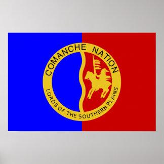 Bandera de la nación del Comanche Poster
