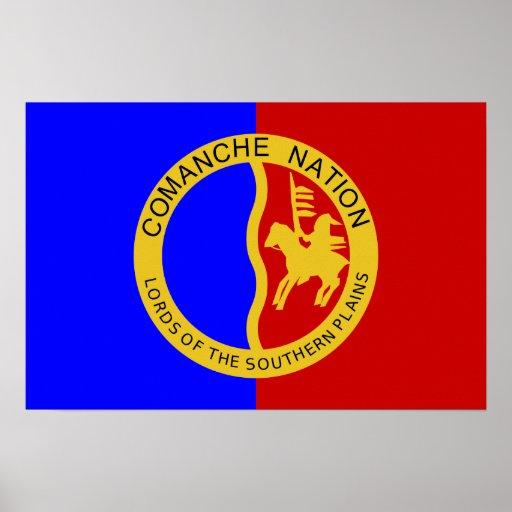 Bandera de la nación del Comanche Póster