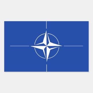 Bandera de la OTAN Pegatina Rectangular