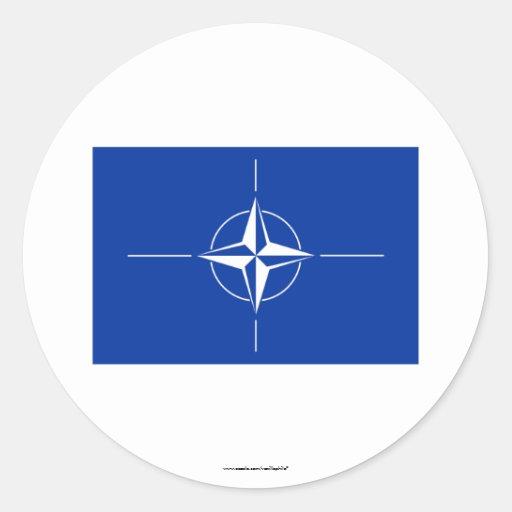 Bandera de la OTAN Pegatina Redonda