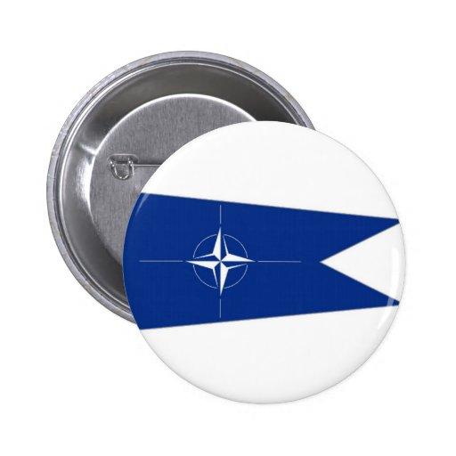Bandera de la OTAN Pin Redondo 5 Cm