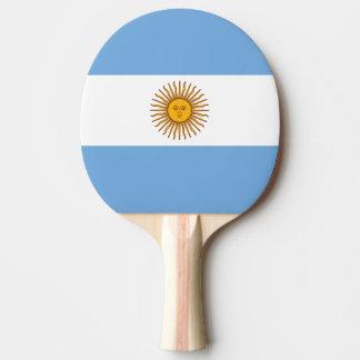 Bandera de la paleta del ping-pong de la Argentina Pala De Tenis De Mesa