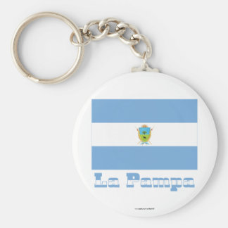 Bandera de La Pampa con nombre Llaveros Personalizados