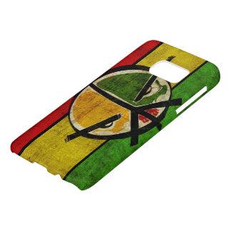 bandera de la paz del reggae del rasta funda samsung galaxy s7