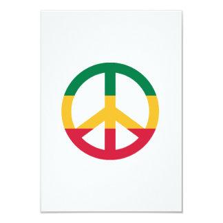 """Bandera de la paz del reggae invitación 3.5"""" x 5"""""""