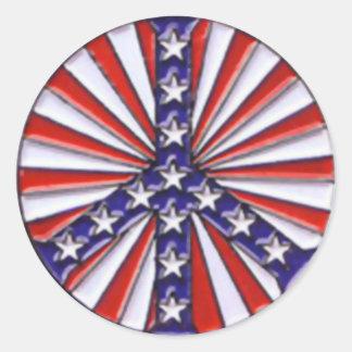 Bandera de la paz pegatina redonda