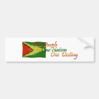 Bandera de la pegatina para el parachoques de Guya Pegatina Para Auto