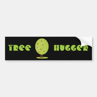 Bandera de la pegatina para el parachoques de Hugg Pegatina De Parachoque