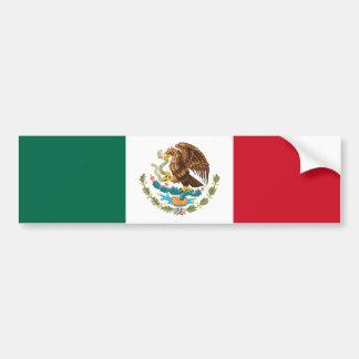 Bandera de la pegatina para el parachoques de Méxi Pegatina De Parachoque