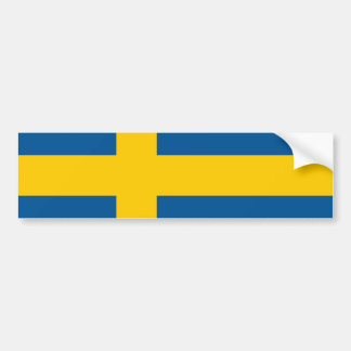 Bandera de la pegatina para el parachoques de Suec Pegatina De Parachoque