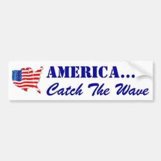 Bandera de la pegatina para el parachoques que agi pegatina para auto