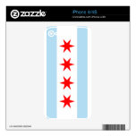 Bandera de la piel 4S del iPhone 4 de Chicago iPhone 4S Skins