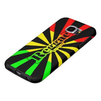 bandera de la pintada del reggae del rasta funda samsung galaxy s6