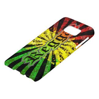 bandera de la pintada del reggae del rasta funda samsung galaxy s7