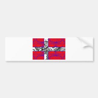 bandera de la placa de circuito (Dinamarca) Pegatina Para Auto