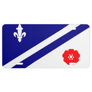 Bandera de la placa de Franco-Alberta Placa De Matrícula