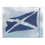 Bandera de la postal de Escocia