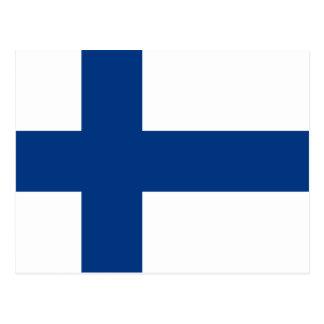 Bandera de la postal de Finlandia