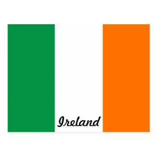 Bandera de la postal de Irlanda