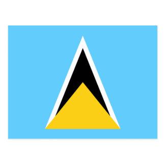 Bandera de la postal de la Santa Lucía