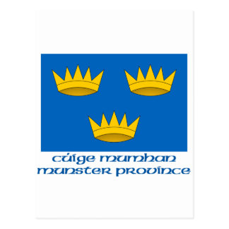 Bandera de la provincia de Munster con nombre Postal