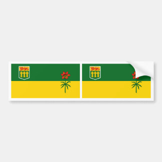 Bandera de la provincia de Saskatchewan Pegatina Para Auto
