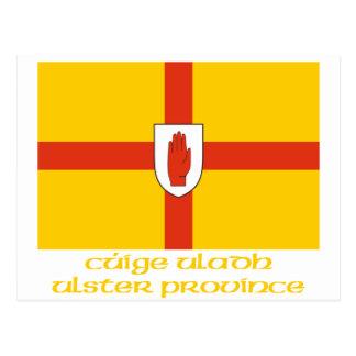 Bandera de la provincia de Ulster con nombre Tarjetas Postales