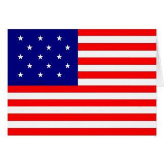 bandera de la raya 15 star/15 - tarjeta