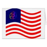 Bandera de la raya del Pentagram Felicitación
