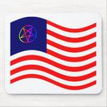 Bandera de la raya del Pentagram Alfombrilla De Raton