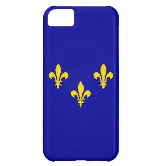 Bandera de la región del Ile de France Funda Para iPhone 5C
