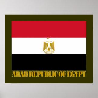 Bandera de la República Árabe de Egipto Poster