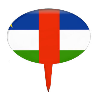 Bandera de la República Centroafricana Decoraciones De Tartas