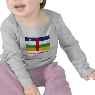 Bandera de la República Centroafricana con nombre  Camisetas