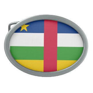 Bandera de la República Centroafricana Hebillas De Cinturon Ovales