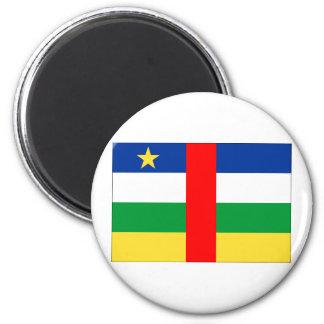 Bandera de la República Centroafricana Imán Redondo 5 Cm