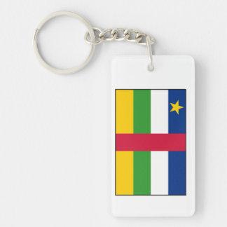 Bandera de la República Centroafricana Llavero Rectangular Acrílico A Doble Cara