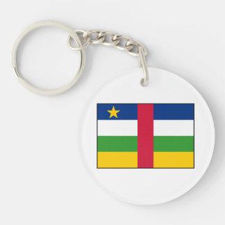 Bandera de la República Centroafricana Llavero Redondo Acrílico A Doble Cara
