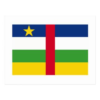 Bandera de la República Centroafricana Tarjeta Postal