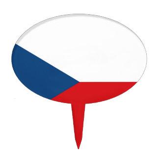 Bandera de la República Checa Figura Para Tarta