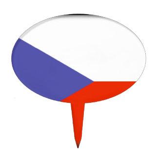 Bandera de la República Checa Figura De Tarta