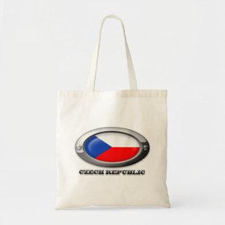 Bandera de la República Checa en el marco de acero Bolsa Tela Barata