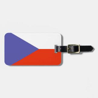 Bandera de la República Checa Etiquetas De Equipaje