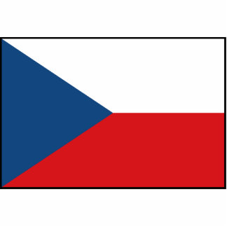 Bandera de la República Checa Fotoescultura Vertical