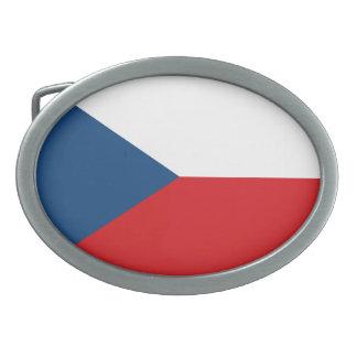 Bandera de la República Checa Hebillas Cinturon Ovales