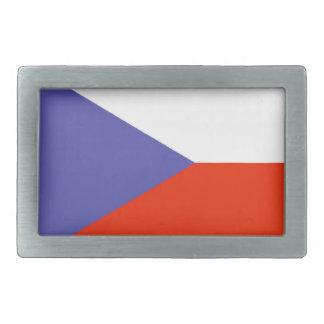 Bandera de la República Checa Hebilla De Cinturón Rectangular