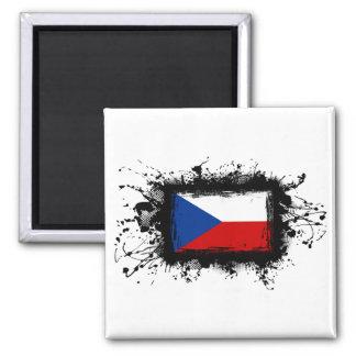 Bandera de la República Checa Imán Cuadrado